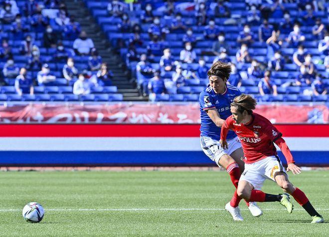 横浜Fマリノス、赤い悪魔を撃破!(1)CFWとして覚醒した「シン・前田大然」の画像023